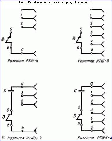 обозначения розеток и выключателей в электрических схемах